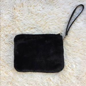 Accessories - Black Fur Wristlet